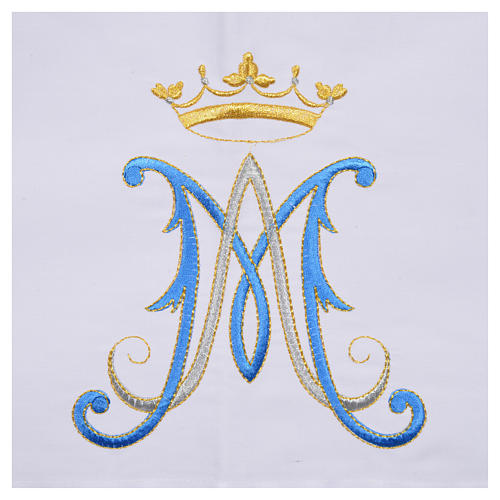 Altar cloth with Marian symbol 45% cotton, 55% polyester 7