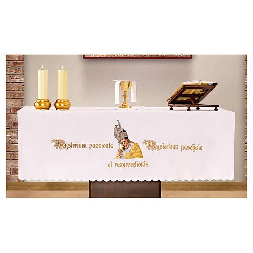 Mantel de altar 165x300 cm San Juan Pablo II 1