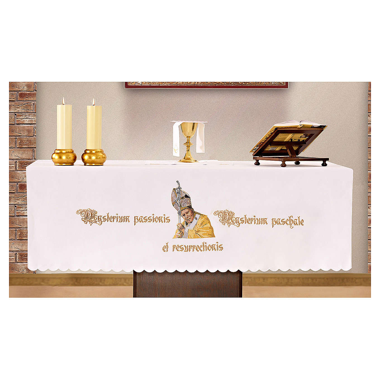Nappe d'autel 165x300 cm Jean-Paul II 4