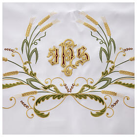 Altar Cloth 165x300cm green & gold Ears of Wheat s3