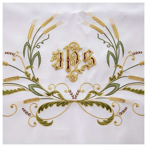 Altar Cloth 165x300cm green & gold Ears of Wheat 3