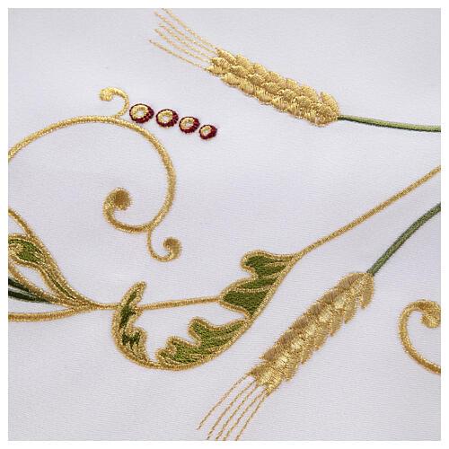 Altar Cloth 165x300cm green & gold Ears of Wheat 5