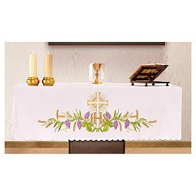 Tovaglia per altare 165x300 cm pianta vite croce s1