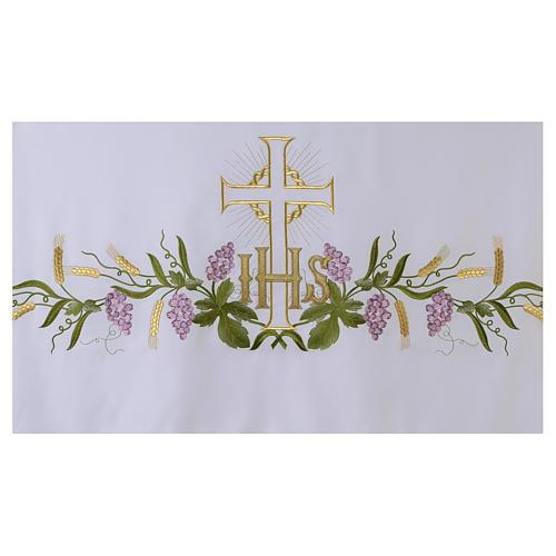 Toalha para altar 165x300 cm planta videira cruz 4