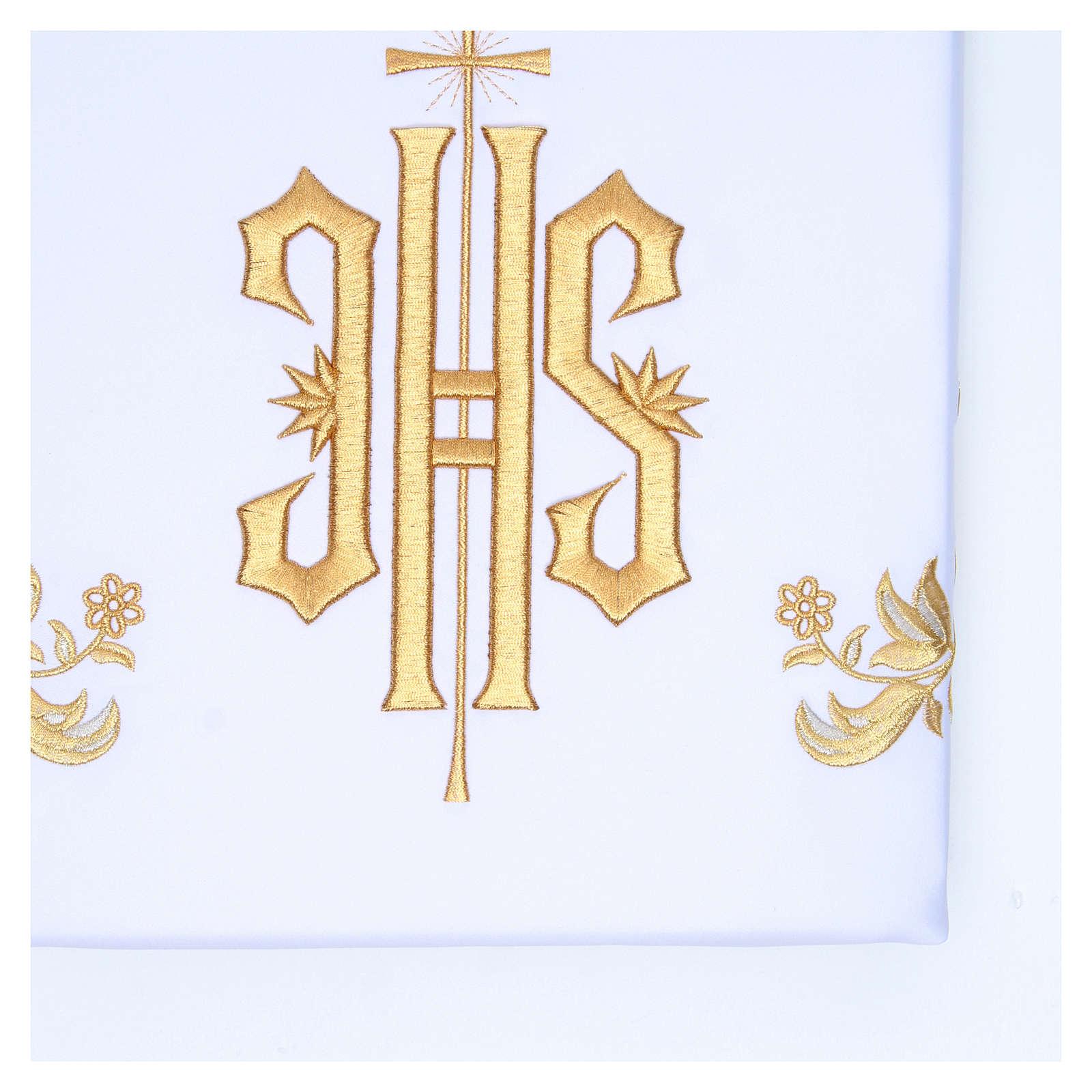 Tovaglia per altare 165x300 cm ricami dorati stile barocco 4