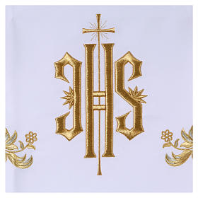 Tovaglia per altare 165x300 cm ricami dorati stile barocco s2