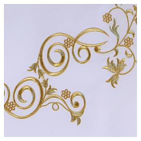 Tovaglia per altare 165x300 cm ricami dorati stile barocco s3