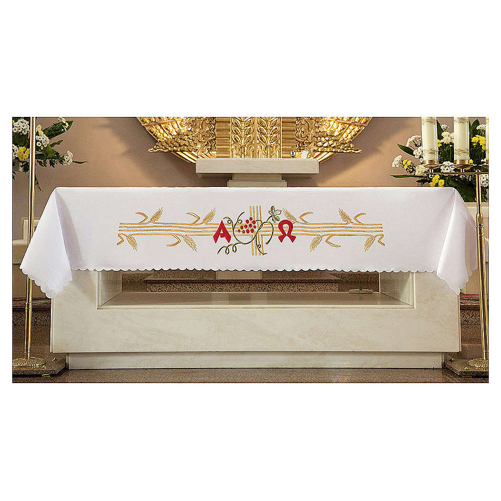 Altar Cloth 165x300cm golden Spikes red Grapes 4