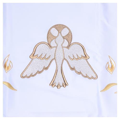 Nappe pour autel 165x300 cm flammes et colombe centrale 4
