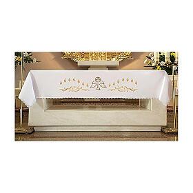 Tovaglia per altare 165x300 cm fiammelle e colomba centrale