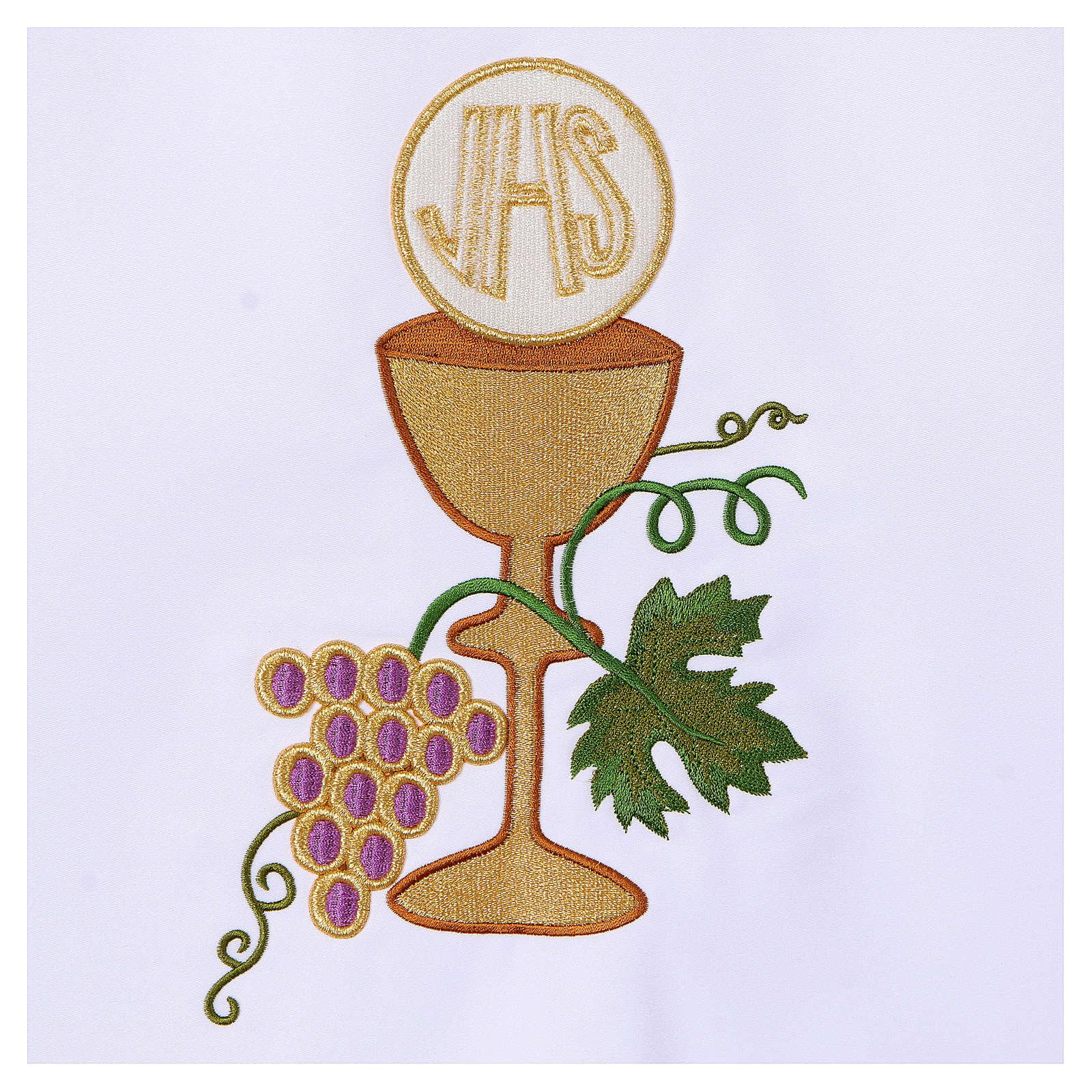 Tovaglia per altare 165x300 cm uva pane vino 4