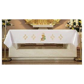 Tovaglia per altare 165x300 cm uva pane vino s2