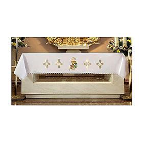 Tovaglia per altare 165x300 cm uva pane vino s1