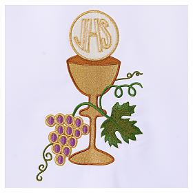 Tovaglia per altare 165x300 cm uva pane vino s3