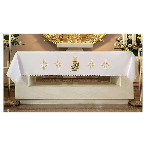 Tovaglia per altare 165x300 cm uva pane vino 1