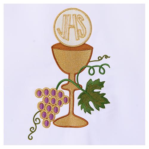 Tovaglia per altare 165x300 cm uva pane vino 3