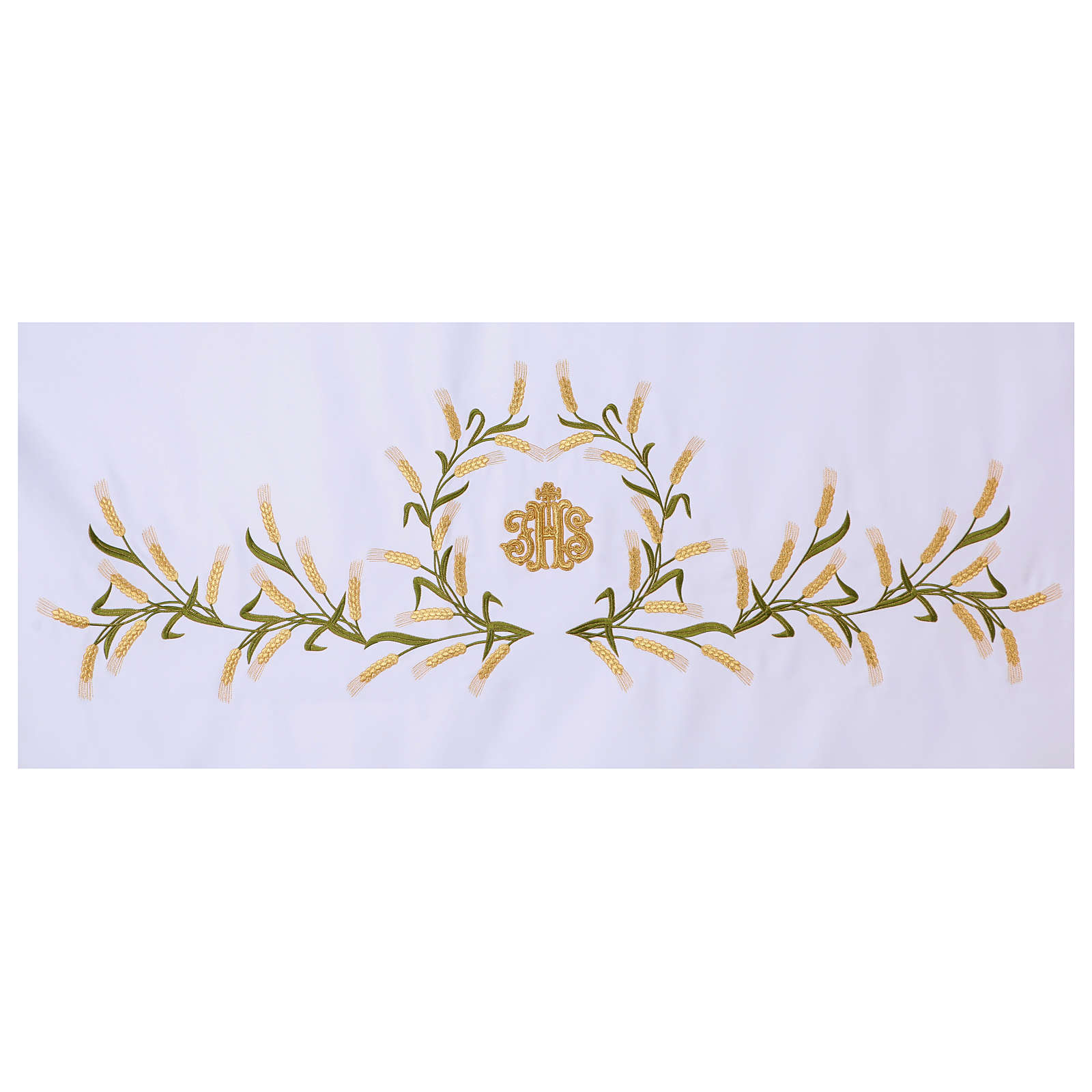Altar Cloth 165x300cm Ears of Wheat, green & gold 4