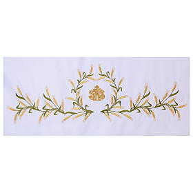 Altar Cloth 165x300cm Ears of Wheat, green & gold s2