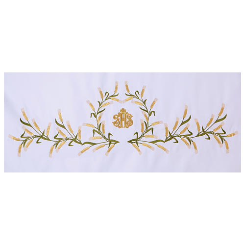 Altar Cloth 165x300cm Ears of Wheat, green & gold 2