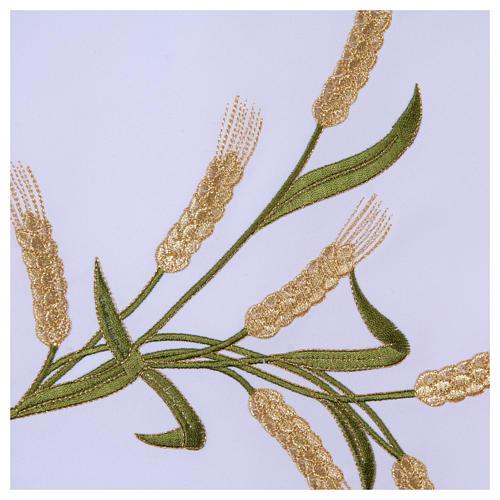Tovaglia per altare 165x300 cm spighe di grano verdi e dorate 5