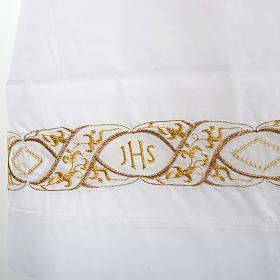 Camice bianco cotone decoro IHS s2
