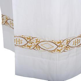 Camice bianco cotone decoro IHS s3