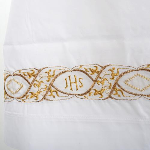 Camice bianco cotone decoro IHS 2