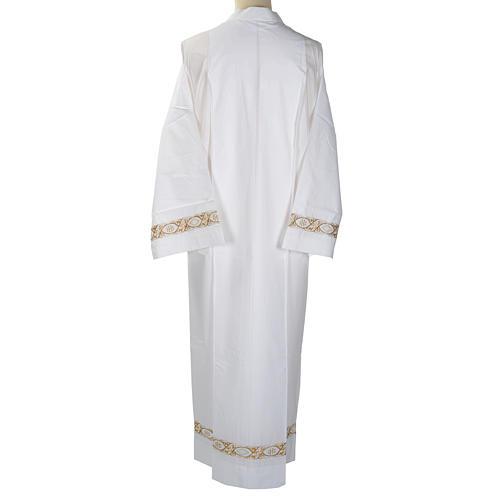 Camice bianco cotone decoro IHS 5