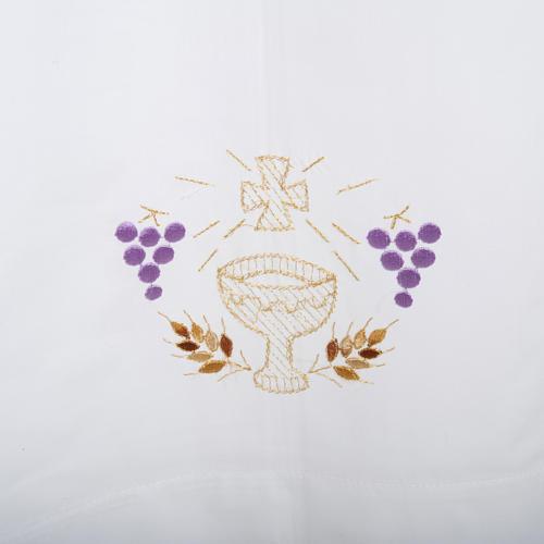Camice bianco cotone calice uva spighe 2