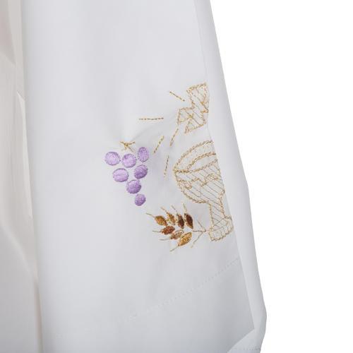 Camice bianco cotone calice uva spighe 3