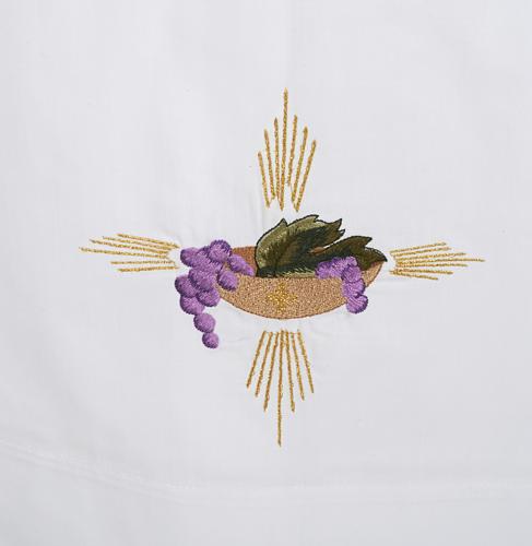 Camice bianco cotone patena uva spighe 2