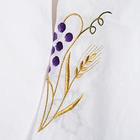 Camice bianco cotone spiga uva s3