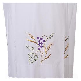 Camice bianco cotone spiga uva s2