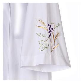 Camice bianco cotone spiga uva s5