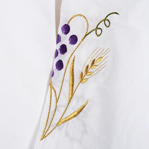 Camice bianco cotone spiga uva 3