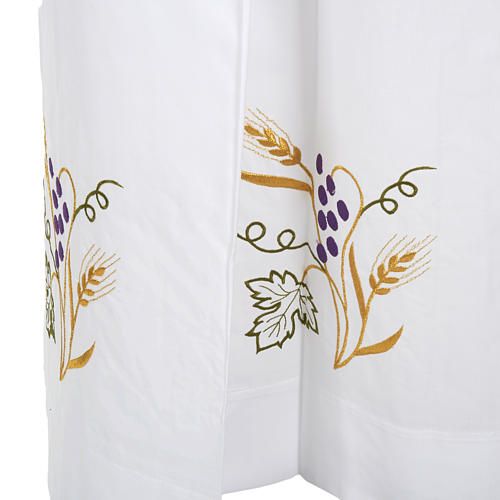 Camice bianco cotone spiga uva 5