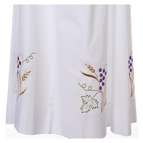 Camice bianco cotone spiga uva 6