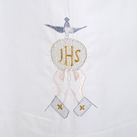 Camice bianco cotone ostia IHS Spirito Santo s2