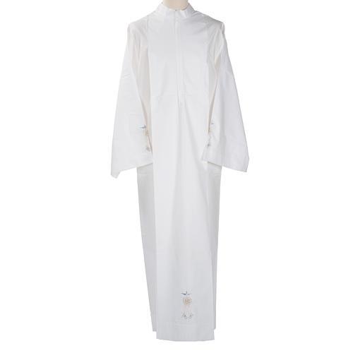 Camice bianco cotone ostia IHS Spirito Santo 1