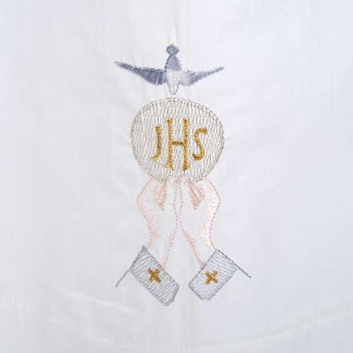 Camice bianco cotone ostia IHS Spirito Santo 2