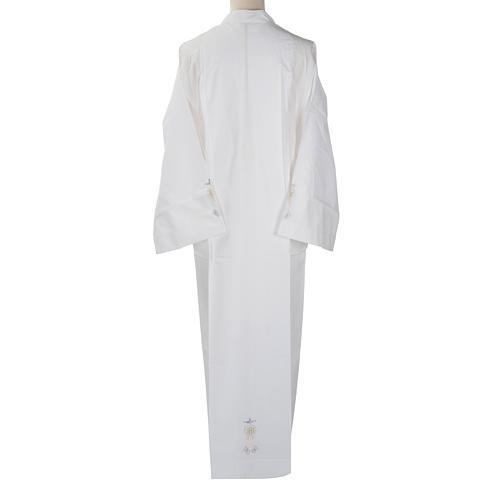 Camice bianco cotone ostia IHS Spirito Santo 3