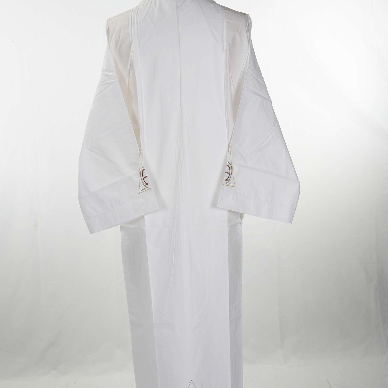 Alba blanca en algodón alfa y omega 4