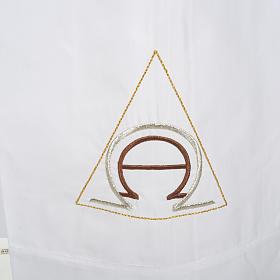 Alba blanca en algodón alfa y omega s2