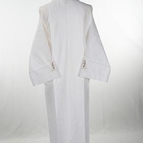 Alba blanca en algodón alfa y omega s3