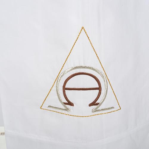 Alba blanca en algodón alfa y omega 2
