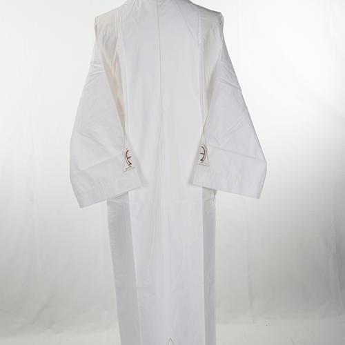 Alba blanca en algodón alfa y omega 3