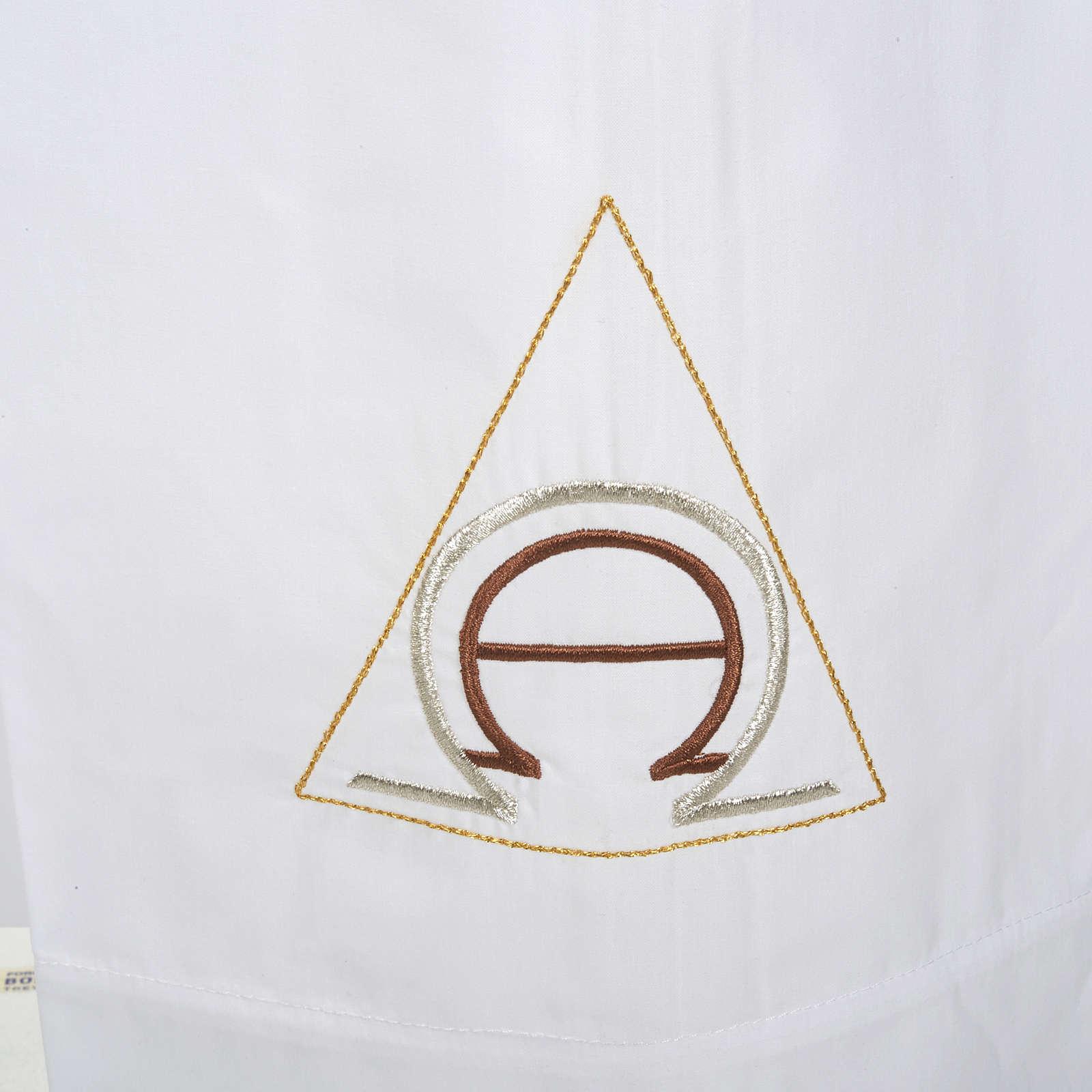 Camice bianco cotone alfa e omega 4