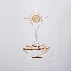 Camice bianco cotone calice pane s2