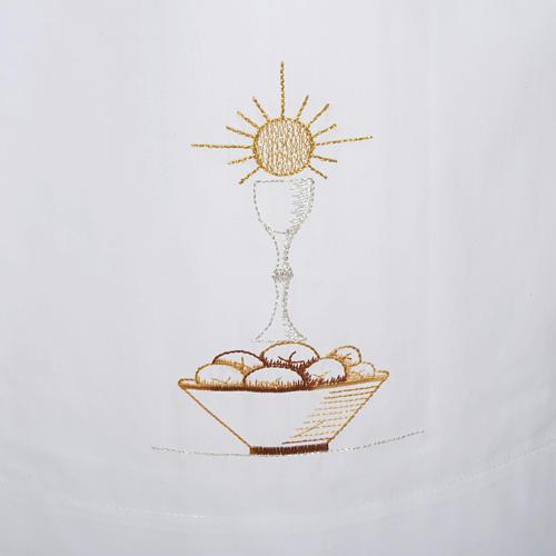 Camice bianco cotone calice pane 2