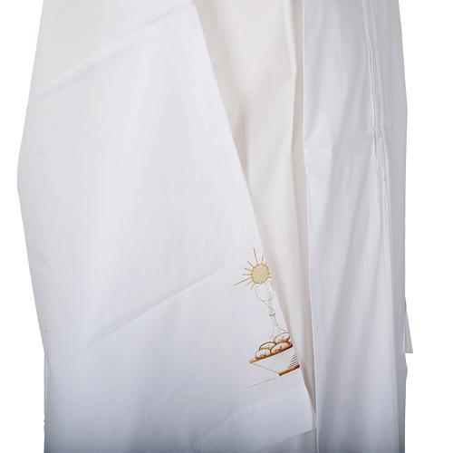 Camice bianco cotone calice pane 3